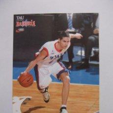 Coleccionismo deportivo: POSTAL JUGADOR TAU CERAMICA BASKONIA VITORIA BASKET. SERGI VIDAL. BALONCESTO. TDKP12. Lote 98139067