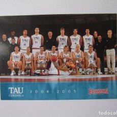 Coleccionismo deportivo: POSTAL PLANTILLA TAU CERAMICA BASKONIA VITORIA BASKET. TEMPORADA 2004-2005. BALONCESTO. TDKP12. Lote 98139119