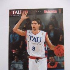 Coleccionismo deportivo: POSTAL JUGADOR TAU CERAMICA BASKONIA VITORIA BASKET. SERGI VIDAL. BALONCESTO. TDKP12. Lote 98139155