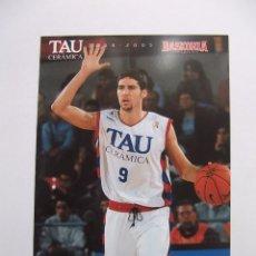 Coleccionismo deportivo: POSTAL JUGADOR TAU CERAMICA BASKONIA VITORIA BASKET. SERGI VIDAL. BALONCESTO. TDKP12. Lote 98139199