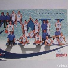 Coleccionismo deportivo: POSTAL PLANTILLA TAU CERAMICA BASKONIA VITORIA BASKET. TEMPORADA 2005-2006. BALONCESTO. TDKP12. Lote 98139311