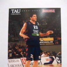 Coleccionismo deportivo: POSTAL JUGADOR TAU CERAMICA BASKONIA VITORIA BASKET. ROBERTO GABINI. BALONCESTO. TDKP12. Lote 98139367