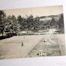 Coleccionismo deportivo: FOTOGRAFIA POSTAL ANTIGUA FIUGGI FONTE. CAMPO DE TENIS. TENNIS VINTAGE. ITALIA. CIRCULADA. Lote 98812295