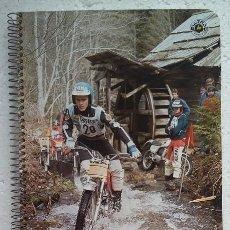 Coleccionismo deportivo: YRJO VESTERINEN. FOTOGRAFIA CON MOTO EN CUADERNO PACSA AÑOS 80. Lote 144032976
