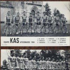 Coleccionismo deportivo: EQUIPO CICLISMO KAS Y AFICIONADOS FOTO ARQUE- FOURNIER - 1964. Lote 99836999