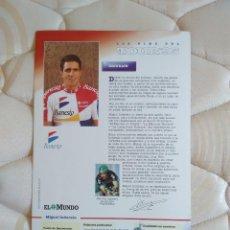 Coleccionismo deportivo: ANTIGUA POSTAL CICLISMO EL TOUR DE FRANCIA 1995 (TOUR 95) - MIGUEL INDURAIN (BANESTO). Lote 100392287