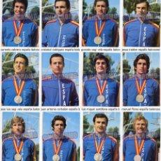 Coleccionismo deportivo: 12 POSTALES INDIVIDUALES SELECCION ESPAÑOLA BALONCESTO EN MUNDIAL 1973 Y SUBCAMPEON DE EUROPA 1974 . Lote 102380587