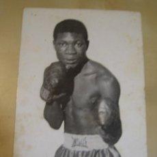 Coleccionismo deportivo: INTERESANTE POSTAL ORIGINAL ANTIGUA BOXEO BOXEADOR LOVE ALLOTEY GHANA . Lote 106304919