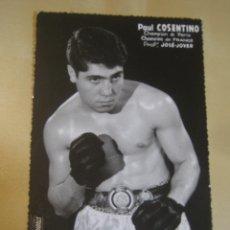 Coleccionismo deportivo: INTERESANTE POSTAL ORIGINAL ANTIGUA BOXEO BOXEADOR PAUL COSENTINO CAMPEON DE PARIS. Lote 106309647
