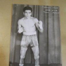 Coleccionismo deportivo: INTERESANTE POSTAL FOTOGRAFICA ORIGINAL ANTIGUA BOXEO BOXEADOR FRANCESCO DESSI ITALIANO. Lote 106318319
