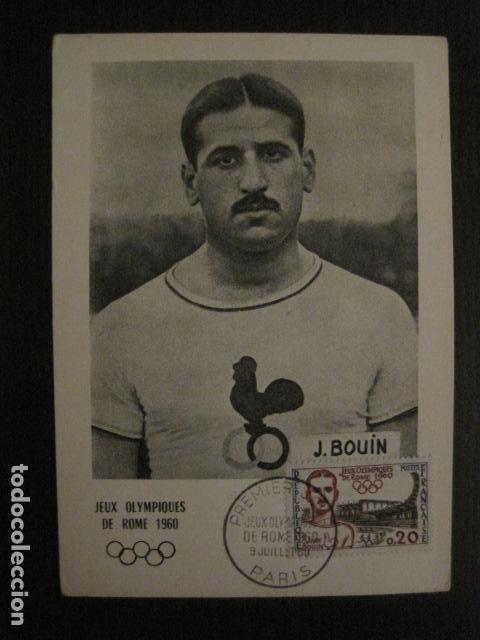 JEAN BOUIN - POSTAL PUBLICITARIA- JUEGOS OLIMPICOS ROMA 1960 - VER REVERSO - (51.253) (Coleccionismo Deportivo - Postales de otros Deportes )