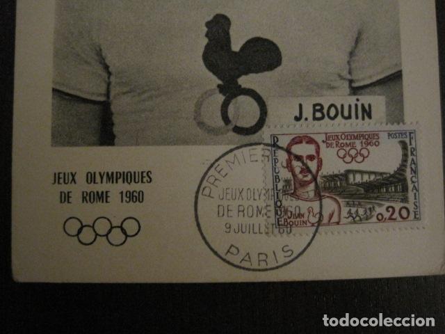 Coleccionismo deportivo: JEAN BOUIN - POSTAL PUBLICITARIA- JUEGOS OLIMPICOS ROMA 1960 - VER REVERSO - (51.253) - Foto 2 - 107677427