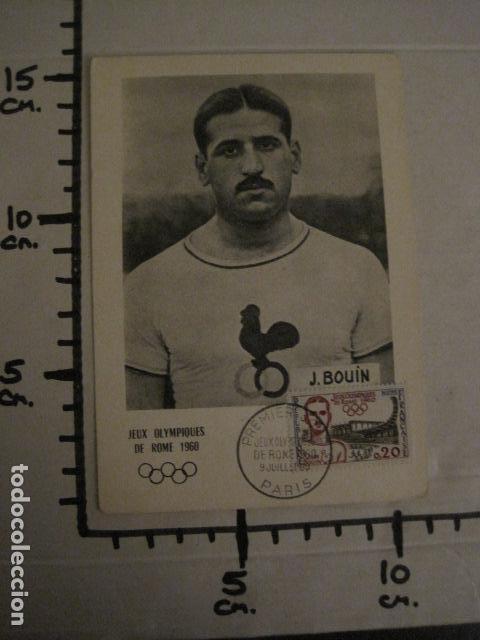 Coleccionismo deportivo: JEAN BOUIN - POSTAL PUBLICITARIA- JUEGOS OLIMPICOS ROMA 1960 - VER REVERSO - (51.253) - Foto 5 - 107677427