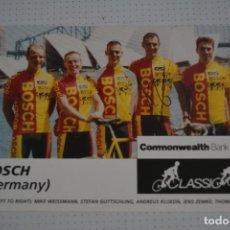 Coleccionismo deportivo: POSTAL EQUIPO CICLISTA BOSCH. Lote 109575939