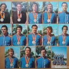 Coleccionismo deportivo: BALONCESTO ESPAÑA SUBCAMPEÓN DE EUROPA 1973 LOTE POSTAL CORBALAN LUYK SANTILLANA BRABENDER A. DÍAZ M. Lote 110134415