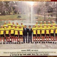 Coleccionismo deportivo: TARGETA PÓSTER EQUIPO KAS 87 CICLISMO. Lote 110264075