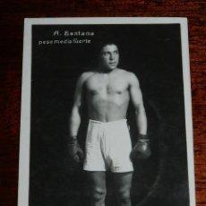 Coleccionismo deportivo: POSTAL FOTOGRAFICA DEL BOXEADOR A. SANTANA, PESO MEDIO FUERTE, EDITORIAL FOTOGRAFICA DE BARCELONA, S. Lote 114374067