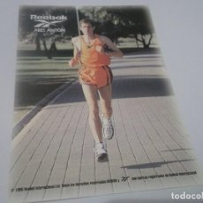 Coleccionismo deportivo: ANTIGUA POSTAL CORREDOR ESPAÑOL DE ATLETISMO ABEL ANTÓN - REEBOK , ATRAS FIRMA. Lote 114972763