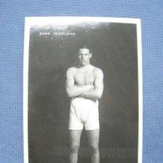 Collezionismo sportivo: J. DAUFI. PESO MEDIANO. BOXEO. POSTAL ORIGINAL. Lote 118011591