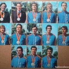 Coleccionismo deportivo: BALONCESTO ESPAÑA SUBCAMPEÓN DE EUROPA 1973 LOTE POSTAL CORBALAN LUYK BRABENDER SANTILLANA. Lote 120835115