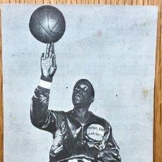 Coleccionismo deportivo: FOLLETO TARJETA DE LOS HARLEM GLOBETROTTERS EN SAN SEBASTIÁN - BALONCESTO - BASKET - AÑOS 60. Lote 121473447