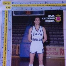 Coleccionismo deportivo: POSTAL DE BALONCESTO. TEMPORADA 1986 1987. CAJA RONDA DE MÁLAGA. JAVIER GARCÍA. 1875. Lote 122150171