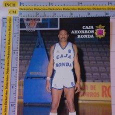 Coleccionismo deportivo: POSTAL DE BALONCESTO. TEMPORADA 1986 1987. CAJA RONDA DE MÁLAGA. CLYDE MAYES. 1874. Lote 122150195