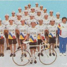 Coleccionismo deportivo: POSTALES POSTAL EQUIPO CICLISTA CICLISMO 1988 COLOMBIA. Lote 155672637