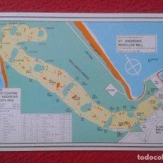 Coleccionismo deportivo: CURIOSA POSTAL POST CARD CARTE POSTALE MAPA MAP CAMPO DE GOLF ST. ANDREWS ESCOCIA SCOTLAND VER FOTOS. Lote 127822079