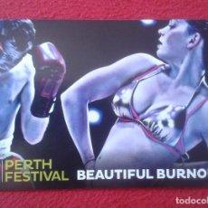Coleccionismo deportivo: TARJETA TIPO POSTAL POST CARD PUBLICITARIA 2012 PERTH FESTIVAL AUSTRALIA CON IMAGEN BOXEO BOXING . Lote 127858915