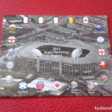 Coleccionismo deportivo: POSTAL POST CARD CARTE POSTALE WORLD CUP ENGLAND MUNDIAL COPA DEL MUNDO DE RUGBY 2015 INGLATERRA VER. Lote 128006863