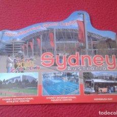 Coleccionismo deportivo: POSTAL TROQUELADA POST CARD CARTE POSTALE SIDNEY AUSTRALIA NEW MILLENNIUM SPORTS CAPITAL 2000 VER FO. Lote 128028475