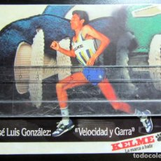Coleccionismo deportivo: POSTAL ATLETISMO POST CARD ATHLETICS PUBLICIDAD KELME JOSE LUIS GONZALEZ. Lote 128192611