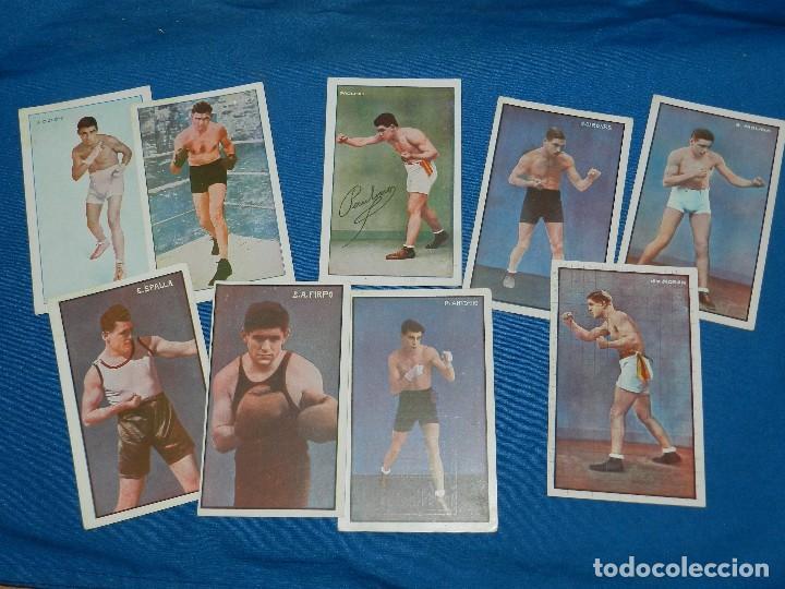 (M) BOCEO - 9 POSTALES DIFERENTES DE BOCEO AÑOS 20 , JIM MORAN , PAOLINO UZCUDUM , GIRONES , MOLINE (Coleccionismo Deportivo - Postales de otros Deportes )