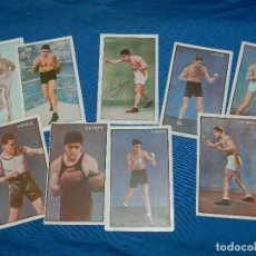 Coleccionismo deportivo: (M) BOCEO - 9 POSTALES DIFERENTES DE BOCEO AÑOS 20 , JIM MORAN , PAOLINO UZCUDUM , GIRONES , MOLINE. Lote 128896751
