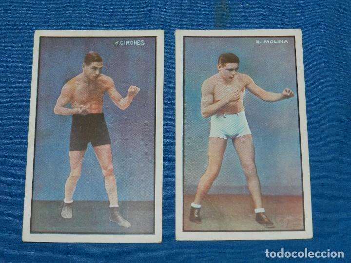 Coleccionismo deportivo: (M) BOCEO - 9 POSTALES DIFERENTES DE BOCEO AÑOS 20 , JIM MORAN , PAOLINO UZCUDUM , GIRONES , MOLINE - Foto 4 - 128896751