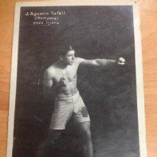 Collezionismo sportivo: POSTAL BOXEO J.AGUSTIN TAFALL (DEMPSEY) PESO LIJERO EDITORIAL EFB. Lote 129631787