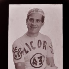 Coleccionismo deportivo: FERNANDO MANZANEQUE, LICOR 43 CICLISMO, CLICHE ORIGINAL, NEGATIVO EN CELULOIDE - ED. ARRIBAS. Lote 130186447