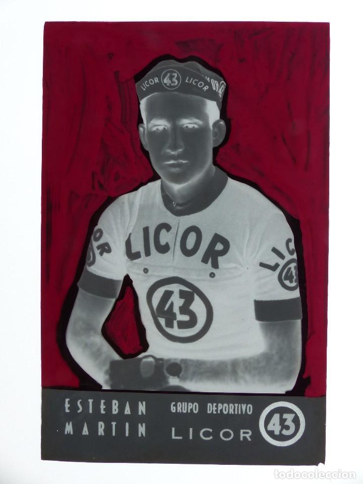 Coleccionismo deportivo: ESTEBAN MARTIN, LICOR 43 CICLISMO, CLICHE ORIGINAL, NEGATIVO EN CELULOIDE - ED. ARRIBAS - Foto 2 - 130188387