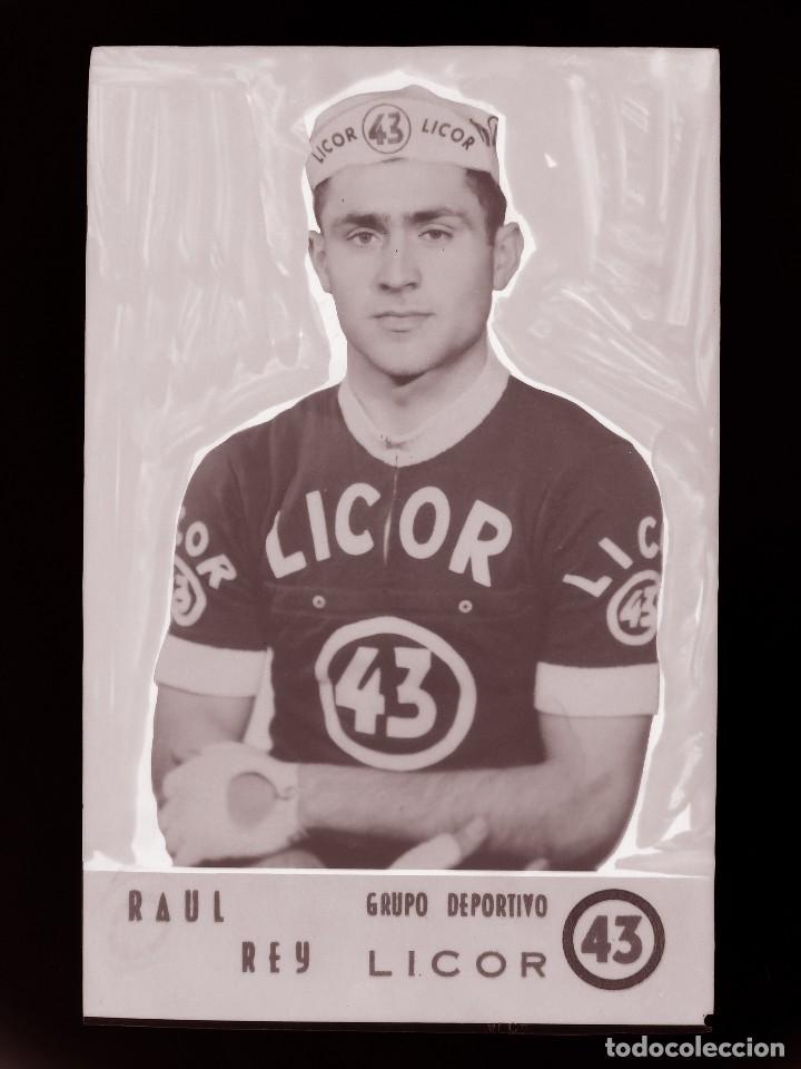 RAUL REY, LICOR 43 CICLISMO, CLICHE ORIGINAL, NEGATIVO EN CELULOIDE - ED. ARRIBAS (Coleccionismo Deportivo - Postales de otros Deportes )