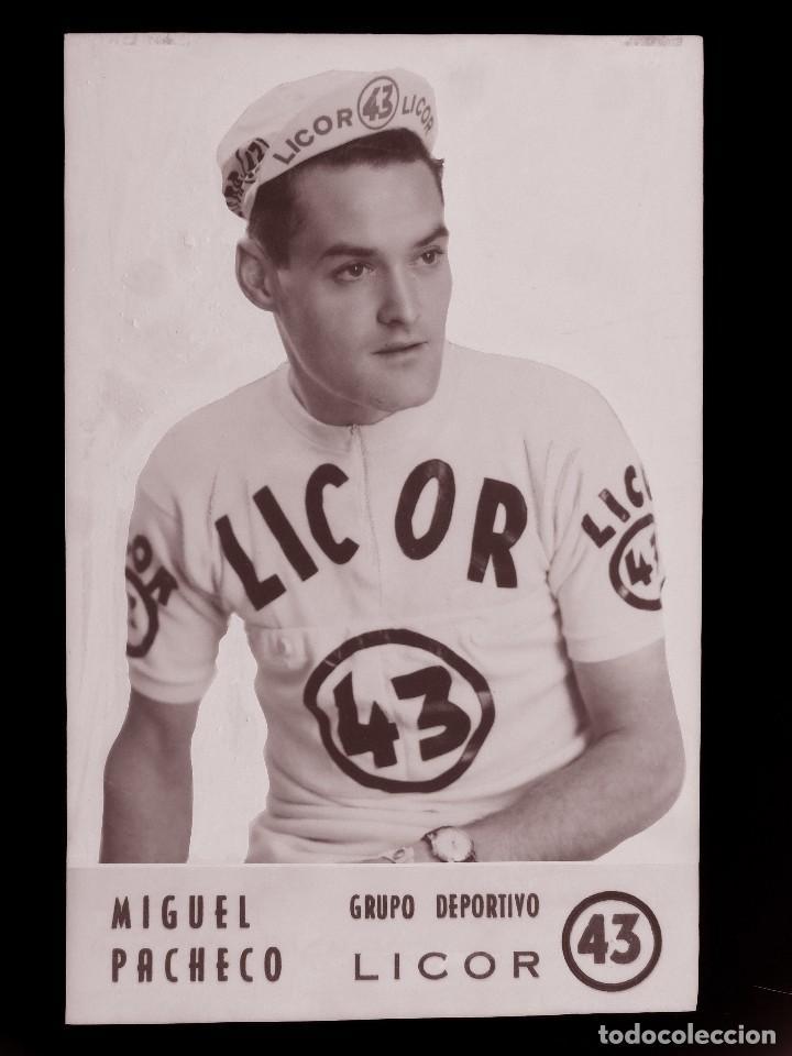 MIGUEL PACHECO, LICOR 43 CICLISMO, CLICHE ORIGINAL, NEGATIVO EN CELULOIDE - ED. ARRIBAS (Coleccionismo Deportivo - Postales de otros Deportes )