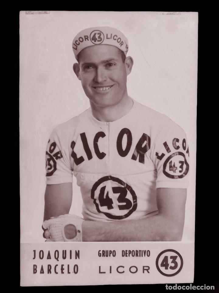 JOAQUIN BARCELO, LICOR 43 CICLISMO, CLICHE ORIGINAL, NEGATIVO EN CELULOIDE - ED. ARRIBAS (Coleccionismo Deportivo - Postales de otros Deportes )