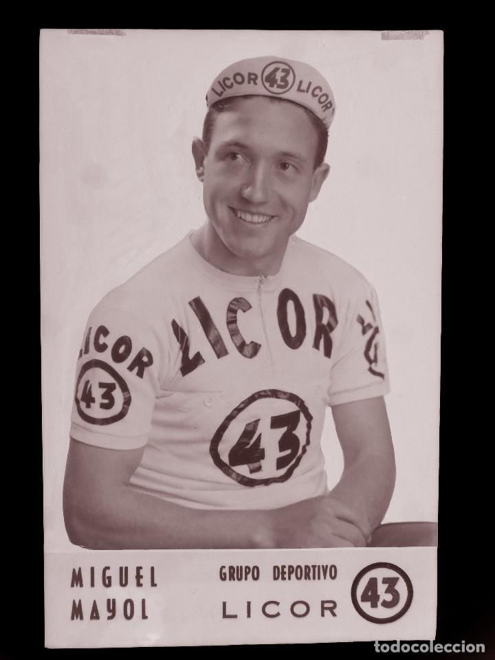 MIGUEL MAYOL, LICOR 43 CICLISMO, CLICHE ORIGINAL, NEGATIVO EN CELULOIDE - ED. ARRIBAS (Coleccionismo Deportivo - Postales de otros Deportes )