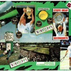 Coleccionismo deportivo: POSTAL POST CARD CARTE POSTALE TENIS TENNIS WIMBLEDON ENGLAND STEFFI GRAF MICHAEL STICH 1991 GERMANY. Lote 130562530