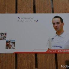 Coleccionismo deportivo: POSTAL DEL CICLISTA BENOIT VAUGRENARD (FRANÇAISE DES JEUX). Lote 137155050