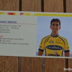 Coleccionismo deportivo: FOTO DEL CICLISTA GUIDO TRENTIN (VINI CALDIROLA). Lote 137158462