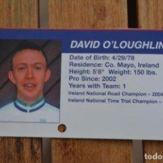 Coleccionismo deportivo: FOTO DEL CICLISTA DAVID O'LOUGHLIN (NAVIGATORS). Lote 137159134