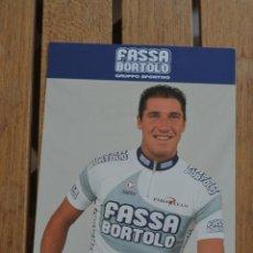 Coleccionismo deportivo: POSTAL DEL CICLISTA MATTEO TOSATTO (FASSA BORTOLO). Lote 137155558