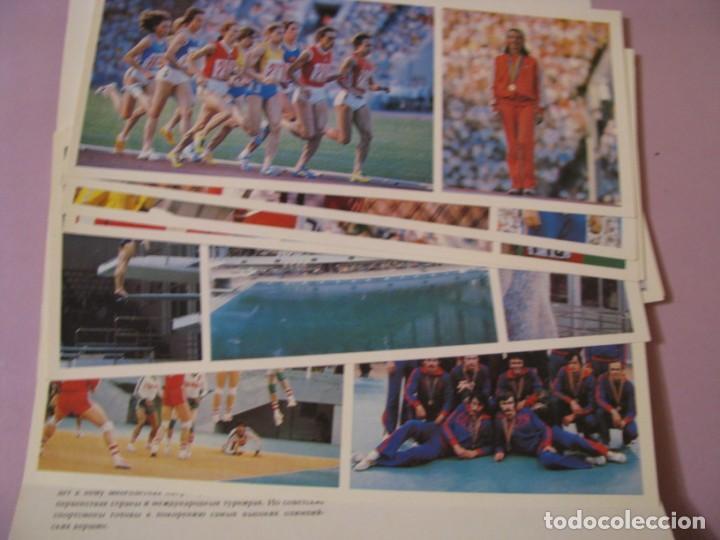 Coleccionismo deportivo: COLECCIÓN ESTUCHE CON 15 POSTALES DE DEPORTISTAS SOVIÉTICAS. JUEGOS OLÍMPICOS DE MOSCU 1980. - Foto 2 - 138894954