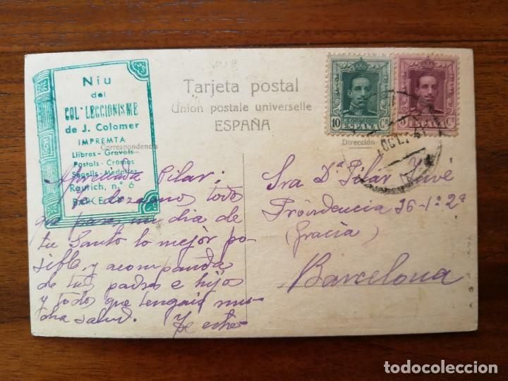 Coleccionismo deportivo: POSTAL FOTOGRAFICA - GRUPO DE CICLISTAS - CIRCULADA 1924 - BUEN ESTADO - Foto 2 - 142806278